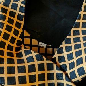Vintage Dresses - Vintage mod grid print jumper dress